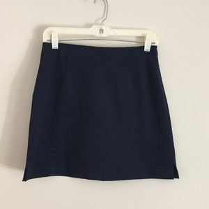 The Limited Navy Blue Mini Stretch Skirt Sz 4